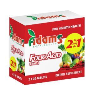 Pachet Acid Folic 400mcg 30tab Adams Vision