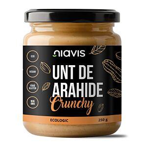 Unt de Arahide Crunchy Ecologic/BIO 250g-Niavis