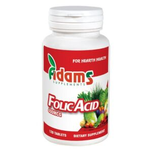 Acid Folic 400mcg 120tab Adams Vision