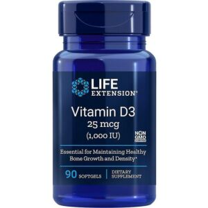 Vitamin D3 1000IU,90cps Life Extension