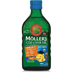 Moller's Cod liver oil Omega-3 aroma tutti-frutti, 250 ml