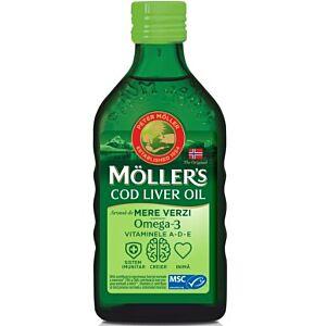 Moller's Cod liver oil Omega-3 aroma de mere, 250 ml
