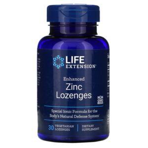Zinc Lozenges 60cps Life Extension