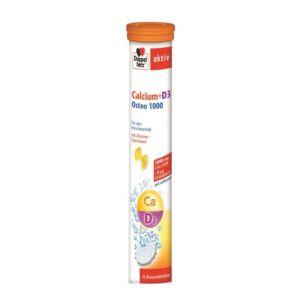 Calciu + Vitamina D3 Osteo 1000, 15 cpr efervescente Doppelherz