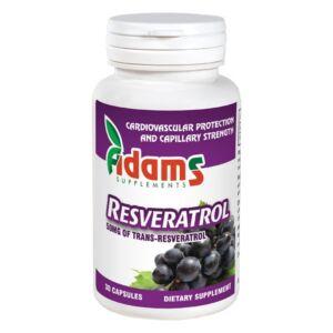 Resveratrol 50mg 30capsule Adams Vision