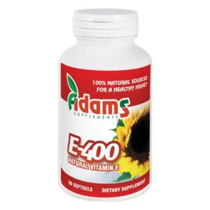 Vit. E-400 Naturala 90cps. Adams Supplements