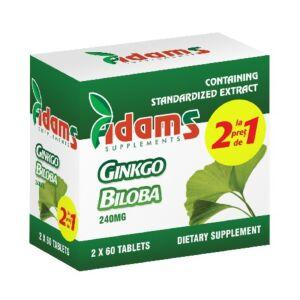 Pachet Ginkgo Biloba 60tab 1+1 GRATIS Adams Vision