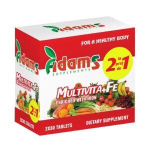 Pachet Multivita+Fe 30 tab. Adams Vision