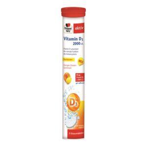 Vitamina D3 2000 UI, 15 comprimate efervescente Doppelherz