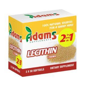 Pachet Lecithin 1200mg 30cps Adams 1+1 GRATUIT