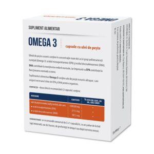 Omega3  30 capsule cu ulei de peste-PARAPHARM