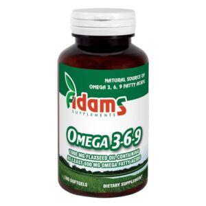 Omega 3-6-9 Ulei din seminte de in 100cps. Adams Vision