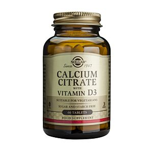Calcium Citrate 250mg  cu D3 60 tablete-Solgar