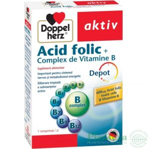 Acid folic + Complex Vitamine B Depot, 30 comprimate Doppelherz