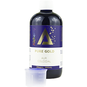 Aur coloidal PureGold 25ppm, 480mL - Pure Alchemy