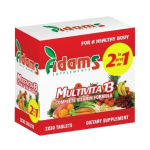 Pachet Multivita13, 1+1 GRATIS, 30 tab, Adams Vision