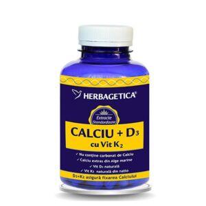 Calciu +D3 cu vit D3 120 capsule
