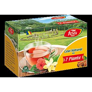 Ceai natural din 7 plante, ceai 20 plicuri Fares