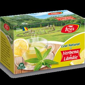 Ceai natural cu verbena și lămâie, ceai 20 plicuri Fares