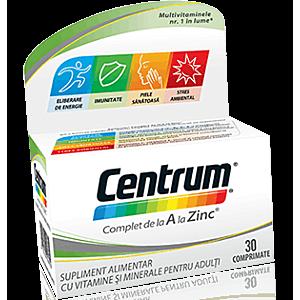 Centrum Complet de la A la Zinc 30cps