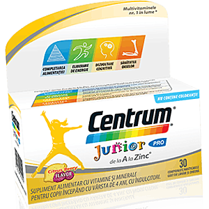 Centrum Junior Pro de la A la Zinc 30cpr