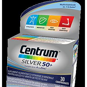 Centrum Silver 50+ Complet de la A la Zinc 30cpr