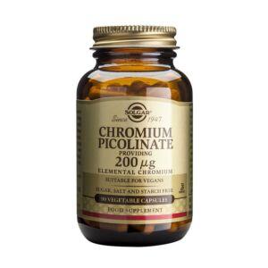 CHROMIUM PICOLINATE 200UG (90 CAPSULE) Solgar