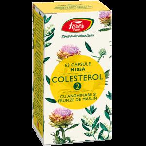 Colesterol 2 cu anghinare si frunze de măslin, M105A, 63 capsule
