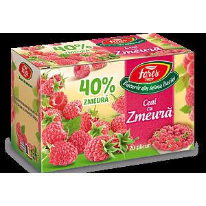Ceai cu zmeură 40%, ceai 20 plicuri Fares