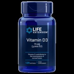 Vitamin D3 3000IU 120 capsule - Life Extension