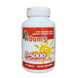 Vit. D-5000 120tab Adams Vision