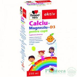 Calciu + Magneziu + D3pentru copii 250 ml Doppelherz