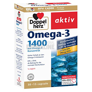 Omega-3 1400mg, 30 capsule Doppelherz