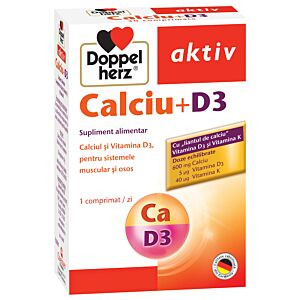 Calciu + D3, 30 comprimate Doppelherz