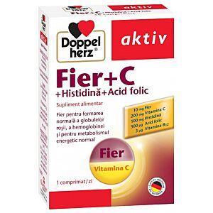Fier + C + Histidină + Acid folic, 30 comprimate Doppelherz