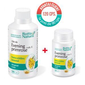 Pachet Evening Primrose+Vit.E 120 cps Rotta Natura