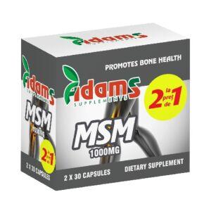 Pachet MSM 1000mg 30cps Adams Vision
