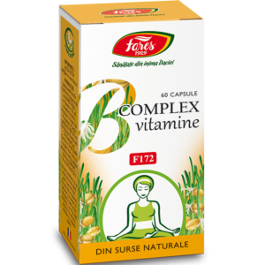 B complex vitamine naturale, F172, 60 capsule