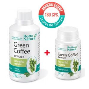 Pachet Green Coffee Extract 180 cps Rotta Natura