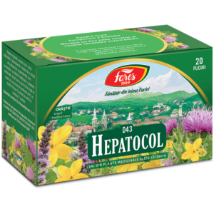 Hepatocol, D43, ceai 20 plicuri Fares
