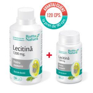 Pachet Lecitina 1200 mg. 120 cps Rotta Natura