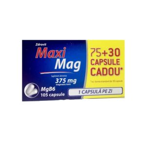MaxiMag, 375 mg, 75+30 capsule, Zdrovit