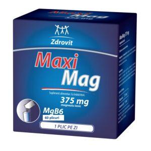 MaxiMag, 375 mg, 60 plicuri + 20% reducere, Zdrovit