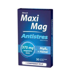 MaxiMag Antistres 375 mg, 30 comprimate, Zdrovit