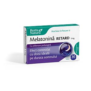 Melatonină Retard 5 mg 30cps Rotta Natura