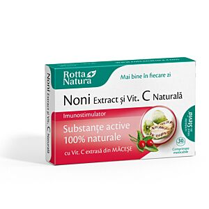 Noni extract+ Vit. C naturala 30cpr Rotta Natura