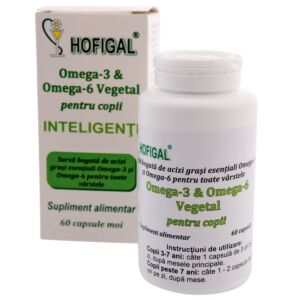Omega 3 & Omega 6 - pentru copii inteligenti60cps Hofigal
