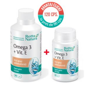 Pachet Omega 3+Vit.E 120 cps Rotta Natura