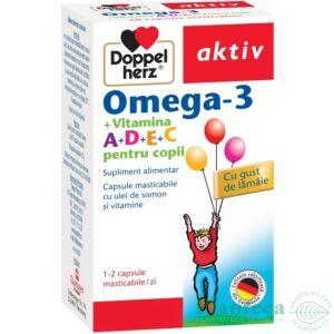 Omega-3 + Vitaminele ADEC pt copii30 cps masticabile Doppelherz