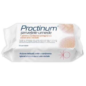 Proctinum servetele umede pt igiena ano-rectala, 72 buc Zdrovit
